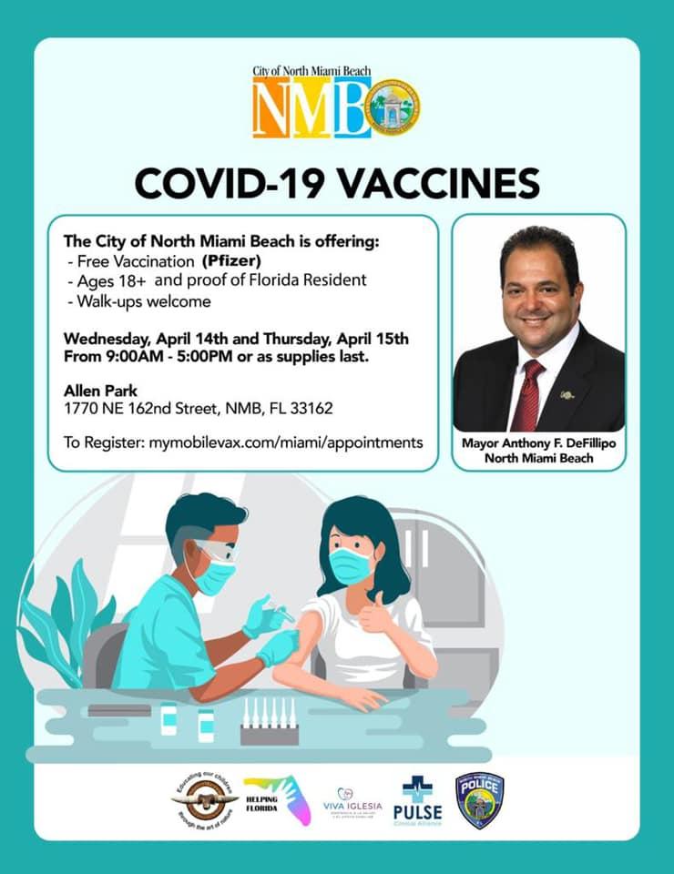 vacunación gratuita en Miami
