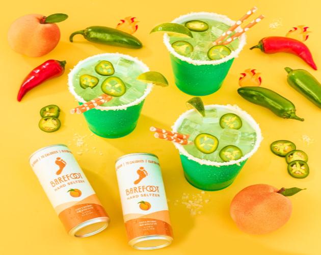 Barefoot Spicy Peach Seltzer Margarita